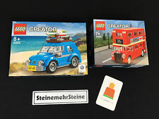 Lego 40252 Creator Mini VW Beetle Käfer & 40220 London Bus Londoner Bus Neu NEW