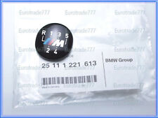 BMW Genuine M style 5 Speed Shift Knob Emblem E30 E34 E36 E39 NEW 25111221613