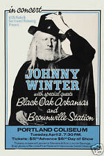 Johnny Winter at  Portland Coliseum Concert Poster Circa 1973