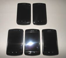 Lot of 5 BlackBerry Storm 9530 Black Verizon Smartphone For Parts Bad Lcd's