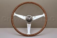 Nardi Steering Wheel Anni '50 Mahogany Wood with Rivets & Glossy Spokes - 380mm