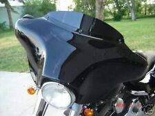 "4"" Chopped Black Windshield Harley FLHTC FLHT FLHX"