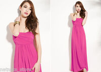 Cocktail Wedding Formal Ball Evening Party Maxi Dress in Pink or Orange 5349
