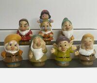 Fisher Price Little People Disney Snow White & 7 Seven Dwarfs Complete Set