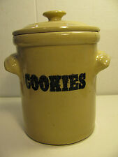 BEAUTIFUL PEARSONS of CHESTERFIELD ENGLAND STONEWARE POTTERY COOKIE JAR/GREAT CD