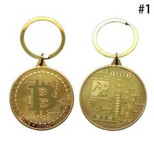 New Bitcoin Gold Medal Key Ring Chain Fob Keychain Keyring
