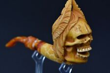 ZEUS Skull FIGURE Pipe By Altay Block Meerschaum-NEW W CASE#924