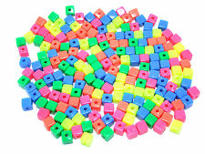 Assorted Square Neon Beads (250g)