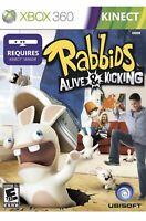 Rabbids Alive & Kicking Xbox 360 Kids Kinect Game Active Exercise