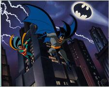 BATMAN & ROBIN THE ANIMATED SERIES  Dynamic Duo WB LIMITED EDITION CEL COA 1996