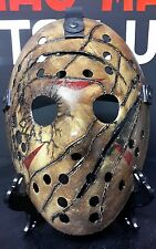 😈JASON VORHEES FVJ HOCKEY MASK,END SCENE PROP,JAYSTEAD79😈