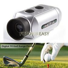 Digital 7x Laser Golf Range Finder Pocket Distance Golfscope Yard Measure Sport