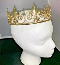 GOLD TONE RHINESTONE CROWN  TIARA WEDDING KING ARTHUR THEATRE
