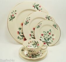 Lenox Country Garden W302 5 Piece Place Setting(s) Plates Cup Saucer Minty