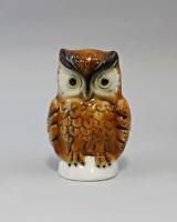 9942476 Porcelain Figurine Bird Owl Herta Wagner & Apel H10cm