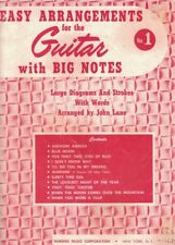Easy Arrangements for the Guitar with Big Notes - Song Book No. 1 - John Lane
