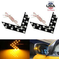 14SMD Car Auto Side Rear View Mirror Amber LED Lamp Turn Signal Light Indicator