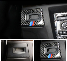 M Sports Carbon Fiber Gear Shift Box Panel Cover Trim For BMW E90 E92 2005-2012