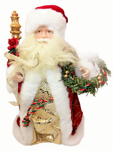 "RARE HTF Vintage Jc Penney Santa Claus Christmas Tree Topper 15"" Trees Top Decor"