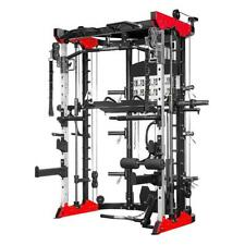Brand New 8-in-1 Home Multi Gym Dual Pulley Smith Machine Half rack RRP £2900