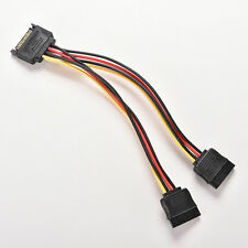15 Pin SATA Male to SATA Female 1 to 2 Y Splitter Power Cable 9C