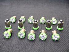 15 BRIGHT Green LED Instrument Panel Dashboard BA9S 53 57 1895 Light Bulbs Chevy