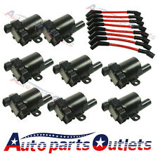 Set of Ignition Coils Kit D585 with 8pcs Spark Plug Wires For Chevy Cadillac GMC