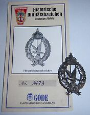 Göde - Army Air Gunner's Badge. 1917 + Cert. Replica