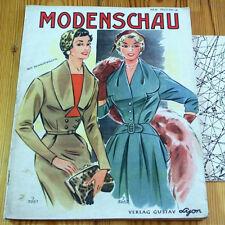 Modezeitschrift MODENSCHAU - Schnittmuster-Bg 50er Jahre ROCKABILLY Herbst EDEL