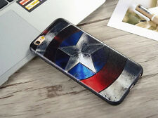 Para iPhone 6 6S Marvel Dc Retro Clásico Funda De Capitán América USA