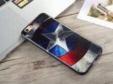 For iPhone 6 6S Marvel DC Retro Classic Captain America USA Case Cover