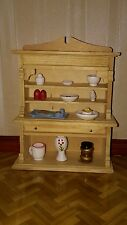 Dolls house kitchen cabinet with accessories