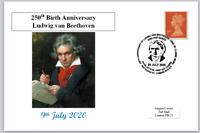 2020 250th birth anniv ludwig van beethoven postal card classical music