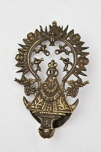 Spanish Colonial Silver Pendant with Religious Characters 17th / 18th Century