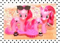 "❤️My Little Pony MLP 3"" Brushable G4 Pinkie Pie's Boutique Set Glitter Target❤️"