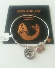 Alex and Ani  MERMAID  Russian Silver Bangle New W/ Tag Card & Box