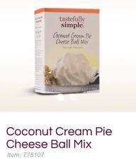 Lot Of 2-Tastefully Simple Coconut Cream Pie Cheese Ball Mix 2 - 3oz packets