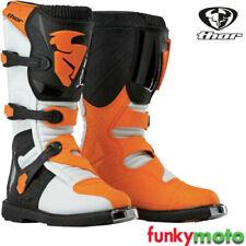 Stivali estati arancione per motociclista
