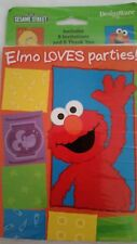 Sesame Street Invitation Cards Envelopes Postcards Elmo Loves Parties