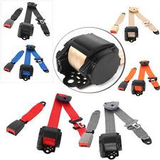 Seat Belt Lap 3 Point Safety Retractable Adjustable Belt Universal For Chevrolet