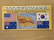 Original Vietnam War Propaganda leaflet Safe Conduct Pass Five Flags