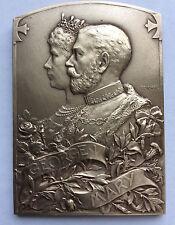 King George V Coronation Bronze Plaquette 1911 By Szirmai, Tony Antoine