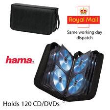 Hama 120 Cd/Dvd Cartera Almacenamiento Llevar Estuche + Mango Nylon Negro