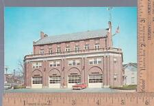 1950s unused post card CENTRAL FIRE HOUSE MIDDLETOWN, NY                  pendor