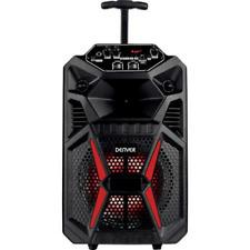 Denver TSP-120 Karaoke Anlage Maschine Mikrofon Lautsprecher Bluetooth Trolle vY