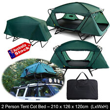 FOLDING COMPACT TWIN / DOUBLE BED TENT CAMPING HIKING FISHING CAMPER TENT-COT