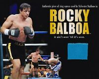 Sylvester Stallone 8x10 Photo w Screen Used Boxing Ring Swatch From Rocky Balboa