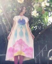 NEW Free People Rainbow Kimono Emergence Dress Tea Dyed Size S/M Small Medium