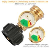 Propane Tank Brass Adapter Gas Level Indicator 4 Master LP Gas Grill BBQ RV USA