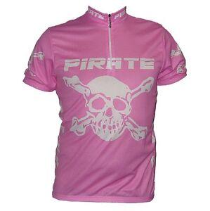 Pirate Cycling Jersey PINK Short-Sleeve XS-3XL